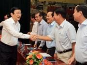 Presidente vietnamita visita ciudad portuaria de Hai Phong