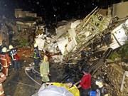 Recuperada caja negra de avión caído en Taiwán