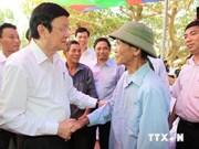 Presidente Truong Tan Sang en visita de trabajo en Quang Ninh