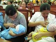 Vietnam incentiva lactancia materna para reducir mortalidad infantil