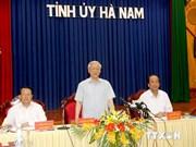 Líder partidista realiza visita a Ha Nam