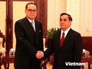 Laos y RPDC acuerdan impulsar cooperación