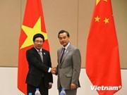 Vicepremier Pham Binh Minh se reúne con canciller chino Wang Yi