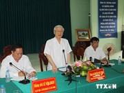 Secretario general del Partido Comunista visita Hau Giang