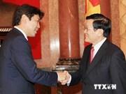 Presidente vietnamita da bienvenida a jóvenes legisladores japoneses