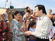 Presidente vietnamita inspecciona situación insular