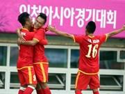Vietnam entra en ronda eliminatoria de fútbol de ASIAD