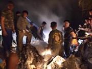 Nueve muertos en accidente de avión militar en Tailandia