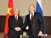 Fomentan Vietnam y Rusia asociación estratégica integral