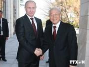 Máximo dirigente partidista vietnamita concluye visita a Rusia
