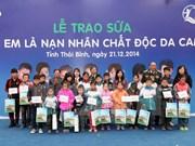 Thai Binh: Donación de leche para niños víctimas de agente naranja