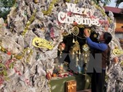 Atmosfera navideña se vive en Vietnam