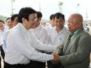 Presidente estimula desarrollo acuático en provincia central