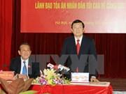 Presidente vietnamita exhorta a elevar eficiencia en juicios