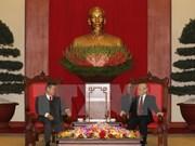 Líder partidista vietnamita respalda cooperación con Laos