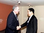 Amplio programa de vicepremier vietnamita en Davos