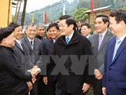 Presidente visita pobladores en provincia montañosa con motivo de Tet