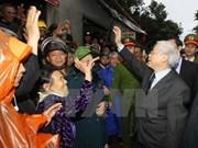 Secretario general del PCV continúa gira de trabajo en Quang Binh