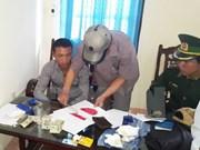 Detienen a un sujeto por transporte ilegal de drogas de Laos a Vietnam