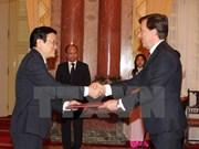 Presidente vietnamita da bienvenida a nuevos embajadores
