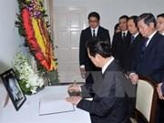 Condolencias de Vietnam a Singapur por fallecimiento de Lee Kwan Yew