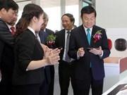 Presidente asiste a inauguración de complejo tecnológico de LG Hai Phong