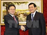 Presidente recibe a secretario adjunto del Gabinete japonés