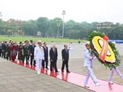 Rinden homenaje al presidente Ho Chi Minh por aniversario 40 de reunificación nacional