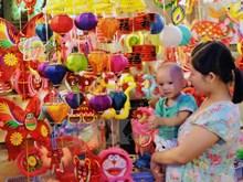 [Fotos] Brillante calle de farolillo en Ciudad Ho Chi Minh en vísperas de Fiesta de Medio Otoño