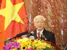 [Fotos] Máximo dirigente partidista de Vietnam extiende felicitaciones del Tet al pueblo