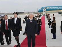 [Fotos] Secretario general del Partido Comunista de Vietnam inicia visita a Francia