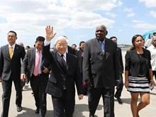 [Fotos] Máximo dirigente partidista de Vietnam visita Cuba