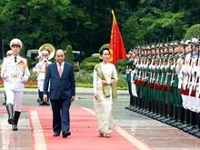 [Fotos] Consejera del Estado de Myanmar visita Vietnam