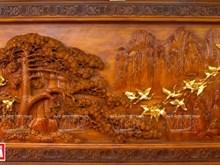 [Foto] Cuadro escultórico en madera vietnamita