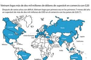 [Infografía] Vietnam logra superávit en comercio con G20