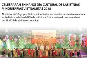 [Infografía] Celebrarán en Hanoi Día Cultural de las etnias  minoritarias vietnamitas 2018