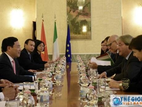 Ratifican Vietnam e Italia determinación de robustecer nexos bilaterales