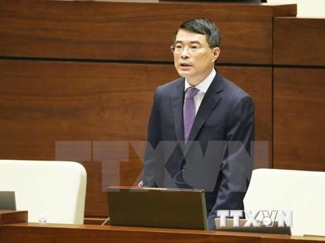 Gobernador del Banco Estatal de Vietnam comparece ante el Parlamento